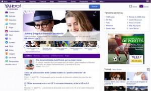 Yahoo mostró su nuevo diseño.